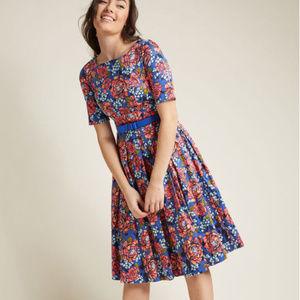 Modcloth | Retro Boat Neck Dress with Pockets